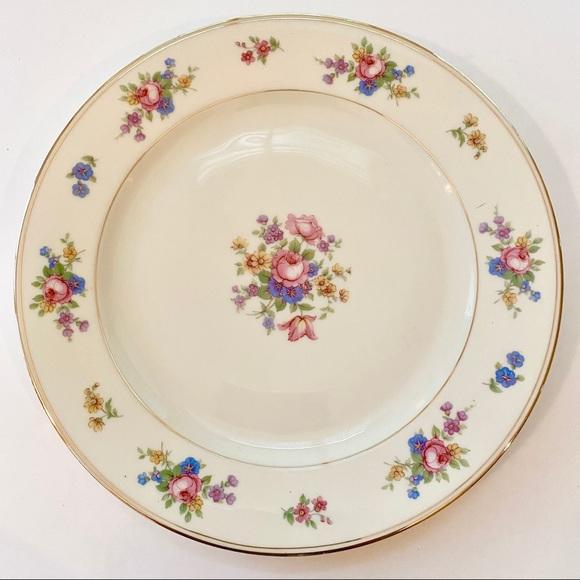 Vintage Royal Ivory KPM June Roses Dinner Plate